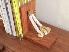 NAUTICAL BOOKENDS wood rope brass Batela