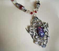 Dragon Breath Fire Opal Necklace, medieval renaissance fantasy victorian gothic