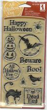 Inkadinkado Clear Stamps MARKER SKETCH HALLOWEEN 11 Pc Set 60-30184 HTF