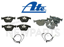 For BMW E60 525i 530i Front & Rear Disc Brake Pads+Brake Pad Wear Sensors KIT