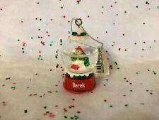 DEREK Ganz Glass Snowman Snowglobe Ornament Stocking Stuffer Gift