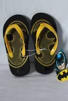 Boys Batman Flip Flops Size 11 - 12 Sandals Summer Shoes DC Comics Super Hero