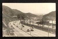 Vintage Real Photo Postcard Cahuenga Pass Hollywood California RPPC 1953 Old Car