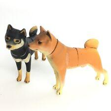 Choco Egg Mini Figure Dog Shiba Inu Red Black & Tan 2P Kaiyodo Furuta Japan