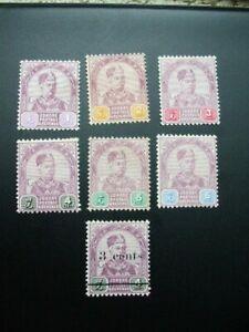 Malaysia Johore 1891-1894 Sultan Aboubakar M.Mint Stamps