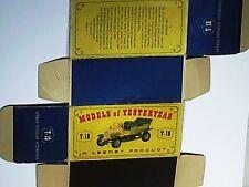 REPLIQUE  BOITE SPYKER 1904  / MATCHBOX 1960