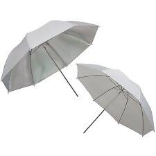 """Umbrella DynaSun 2x UR02 33"""" White and Silver Studio Diffuser Diffusion Softbox"""