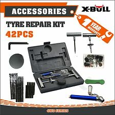 X-BULL Tyre Puncture Recovery Repair Kit  4WD Plugs Tube 42PCS New Heavy Duty