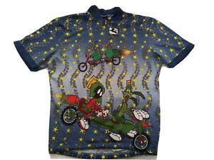 90s Giordana CYCLING JERSEY Bike SHIRT Looney Tunes Marvin Martian Bugs Daffy