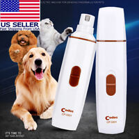 #1 Pet Dog Cat Nail Paws Grinder Trimmer Tool Grooming Care Clipper Electric Kit
