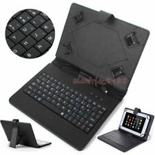 """For Samsung Galaxy Tab A E S2 S3 7"""" 8"""" 10.1""""inch with USB Keyboard Leather Case"""