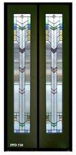 "1 Pr Beautiful Stained Glass 18"" x 80""x 13/8 designer Interior Bifolds / Doors"
