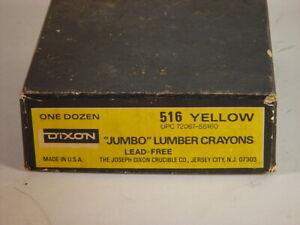 Dixon Jumbo lumber crayons 516 yellow 11 count