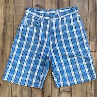 Vintage Bill Blass plaid High Waisted Bermuda Shorts Size 14