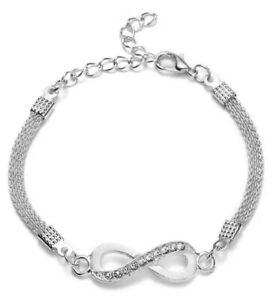 Rhinestone Infinity Symbol Bracelet