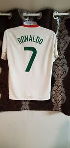 Portugal soccer jersey  away Ronaldo 7 season 2008 size L free  shipping