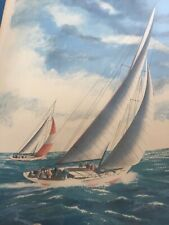 Alex Packham signed & numbered Lithograph w/ Authentication Untitled sailboat
