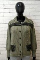LUISA SPAGNOLI Donna M Maglione Cardigan Lana Maglia Pullover Sweater Women