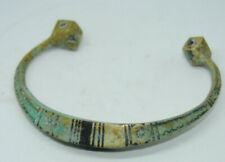 Ancient Style Viking bronze bracelet tracery with awesome large ends rare piece