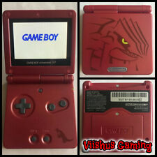 AGS-101 Nintendo Game Boy Advance SP Pokemon Groudon Bright Backlight W/Charger
