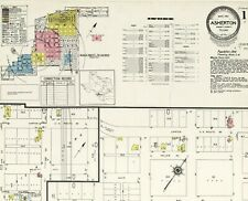 Asherton, Texas~Sanborn Map© sheets~ with 4 maps made in 1951