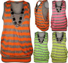 Gestreifte Damenblusen,-Tops & -Shirts im Trägertops-Stil mit Viskose ohne Mehrstückpackung