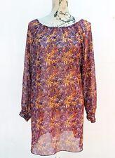 Floral Print Shift DRESS / TOP, Festival, Hippie, Doof Size 16