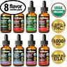 Organic Hemp Oil Drops for Pain Relief, Stress, Anxiety, Sleep 1000mg 8 FLAVOR