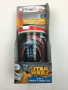 SNACKEEZ JR DARTH VADER Disney 2 IN 1 SNACK AND DRINK CUP *NEW*