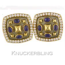 Leverback Sapphire Yellow Gold Fine Earrings