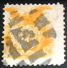USA 1869 10 Cent Orange stamp with grill ( very faint ) vfu