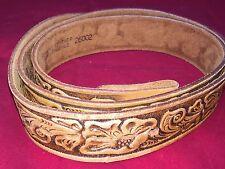 "SCA Vtg Dobbs House Chambers Phoenix  Brown Leather Tooled Belt 42""-44"""