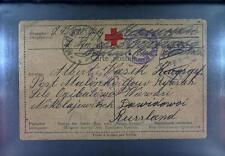 Camp 1916 Russia Siberia POW Kriegsgefangenenpost Rotes Kreuz Red Cross 99