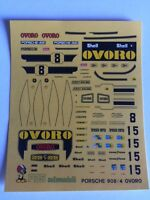 "PORSCHE 908/2 ""OVORO"" LE MANS 1975 2 VERSION 1/43 DECALS decal"