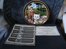 Vtg Collector Plate Thaddeus Krumeich Uncle Tads Cats Peaches & Cream Anna Peren