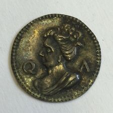 Antique Silver Queen Anne Gaming Token Early 18th Century QA