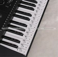 Music Keyboard Electronic Organ Note Clear Stickers Set For 61 54 Keys S8