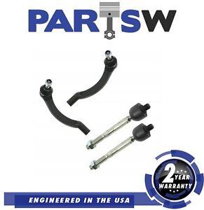 4 Pc New Steering Kit for Volvo 850 C70 S70 & V70 Inner & Outer Tie Rod Ends