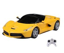 Yellow 1:24 Ferrari LaFerrari Model Remote Control Car Electric RC