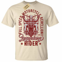 Legendary Rider T-Shirt Mens Biker top motorcycle speed ride custom