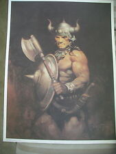 "The Barbarian FRANK FRAZETTA new old stock 19"" X 25"" LITHOGRAPH"