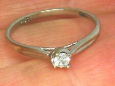 9CT Gold 9K Gold 0.10ct Diamond Solitaire Engagement ring size K ,Hallmarked