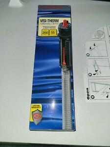 Marineland Visi-Therm 200W Submersible Heater up to 55 Gallon Tanks new open box