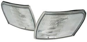 fit 1992-1995 Ford Taurus Clear Corner Park Signal Light Lamp PAIR