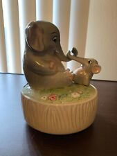 Vintage Quon Quon Elephant Music Box What the World Needs Now