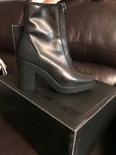 alexander wang x H&M leather boot zip front 39