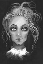 LE HALLOWEEN POSTCARD 6/27 RYTA VINTAGE STYLE ART  WITCH 4x6 CROW GHOST SPIRIT