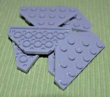 (5) 3x6 Light Gray Double Tapered Tail Wing Plate Bricks  ~  Lego  ~ NEW ~