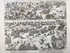 Baudartius Bor Dutch Revolt Rare Engraving Turnhout Belgium - 1621