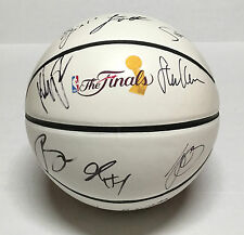 GOLDEN STATE WARRIORS TEAM Signed Autographed Basketball COA! NBA FINALS! CURRY+